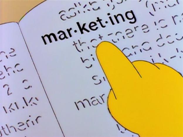 simpsons marketing